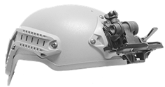 Advanced Flip-Up Helmet Mount GSCI HM-714XM-SR. Shroud-Ready. Lightweight and Durable, available PVS and Dovetail type brackets. Flip-Up off.