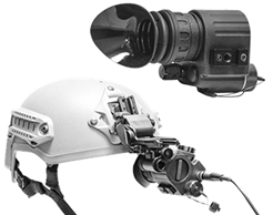 Head-Mounted Display HMD-800, video steam directly from GSCI system. Hands-free availalbe with J-Arm and Head-gear or Helmet Mount.